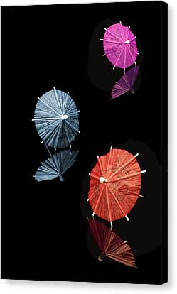Cocktail Umbrellas Xi Canvas Print by Tom Mc Nemar