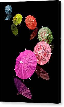 Cocktail Umbrellas Xii Canvas Print by Tom Mc Nemar