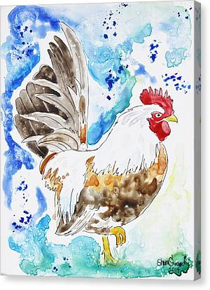 Barn Pen And Ink Canvas Print - Cocky by Shaina Stinard