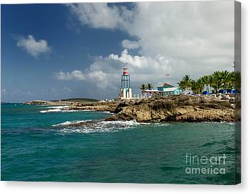 Cruise Ship Canvas Print - Coco Cay Bahamas by Amy Cicconi