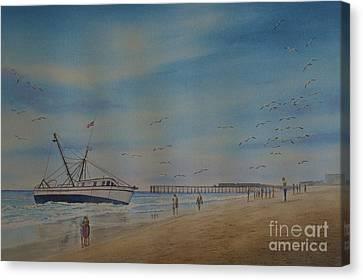 Cocoa Beach Meets Ellen Marie Canvas Print by AnnaJo Vahle