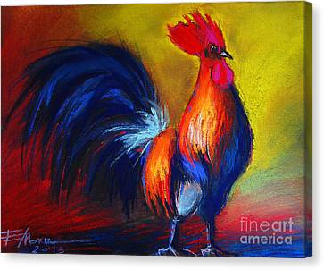 Cocorico Coq Gaulois Canvas Print by Mona Edulesco