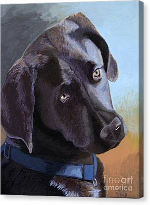Coco's Portrait Canvas Print by Margaret Sarah Pardy