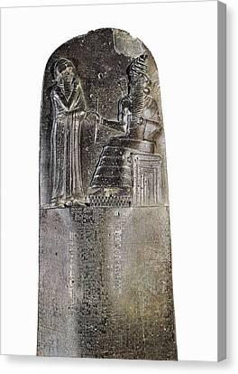 Code Of Hammurabi. Ca. 1750 Bc Canvas Print by Everett