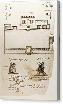 Ruiz Canvas Print - Codex Osuna C�dice Osuna. 16th C by Everett