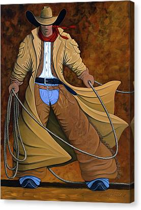Contemporary Cowgirl Canvas Print - Cody by Lance Headlee