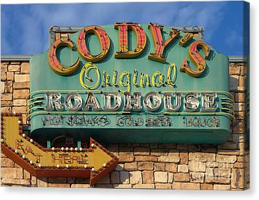 Cody's Original Road House Sign  Canvas Print by Liane Wright
