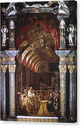 The Sacred Feminine Canvas Print - Coello, Claudio 1642-1693. The by Everett