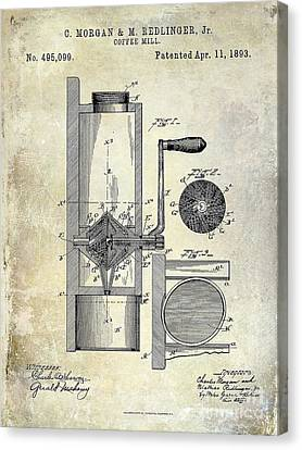 Coffee Mill Patent 1893 Canvas Print
