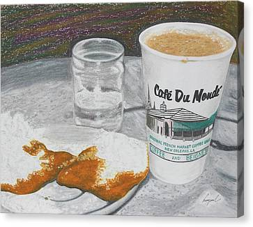 Coffee And Beignet Canvas Print