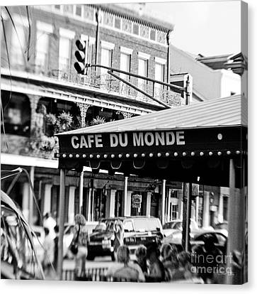 Coffee And Beignets Canvas Print by Scott Pellegrin