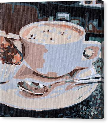 Coffee And Cupcake Canvas Print