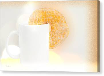 Coffee And Donuts Two Canvas Print by Bob Orsillo