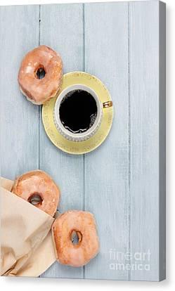 Weekend Canvas Print - Coffee And Doughnuts by Stephanie Frey