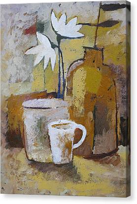 Coffee And Flowers Canvas Print by Lutz Baar