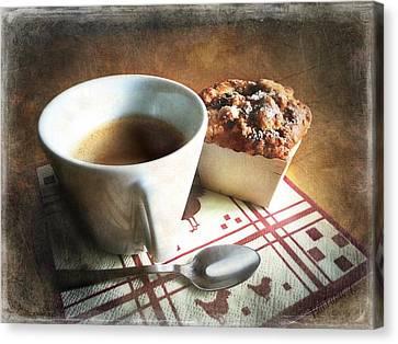 Coffee And Muffin Canvas Print by Barbara Orenya