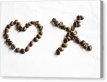 Coffee Bean Love Canvas Print by Georgia Fowler