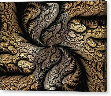 Canvas Print featuring the digital art Coffee Beans by Lea Wiggins