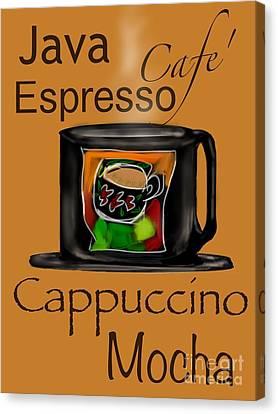 Coffee Break Canvas Print by Christine Fournier