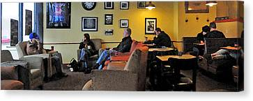 Coffee Break Canvas Print by Michael Moschogianis