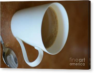 Coffee Cup 01 Canvas Print by Bobby Mandal