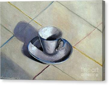 Coffee Cup Canvas Print by Kostas Koutsoukanidis
