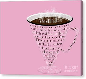 Coffee Cup The Jetsons Pink  Canvas Print by Andee Design