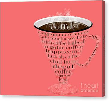 Coffee Cup The Jetsons Red Canvas Print by Andee Design