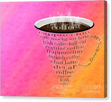 Sorbet Canvas Print - Coffee Cup The Jetsons Sorbet by Andee Design