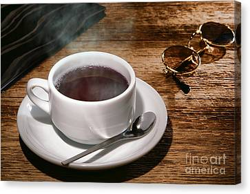 Ceramic Canvas Print - Coffee For The Voyageur by Olivier Le Queinec