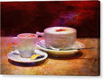 Coffee For Two Canvas Print by Laura Fasulo