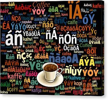 Coffee Language Canvas Print by Bedros Awak