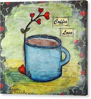 Coffee Love Canvas Print by Lauretta Curtis