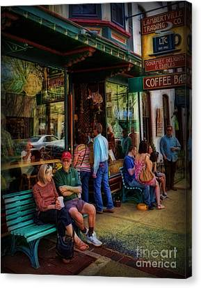 Coffee Lovers Canvas Print by Lee Dos Santos