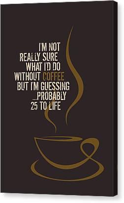 Coffee Mania Canvas Print by Helena Kay