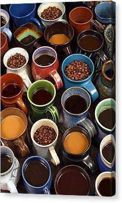 Coffee Mugs Canvas Print by Ron Sumners
