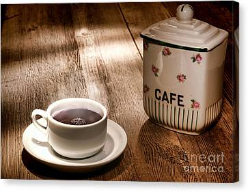 Ceramic Canvas Print - Coffee by Olivier Le Queinec
