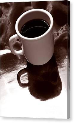 Coffee On Counter Canvas Print
