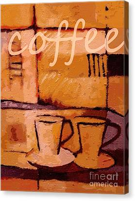 Coffee Poster Canvas Print by Lutz Baar