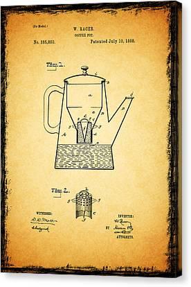 Coffee Pot Patent 1888 Canvas Print by Mark Rogan