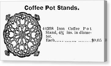 Trivet Canvas Print - Coffee Pot Stand, 1895 by Granger