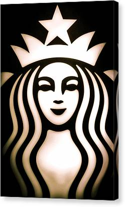 Coffee Queen Canvas Print by Spencer McDonald