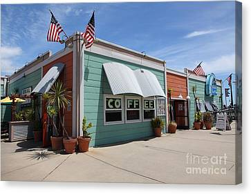 Coffee Shop At The Municipal Wharf At Santa Cruz Beach Boardwalk California 5d23833 Canvas Print by Wingsdomain Art and Photography