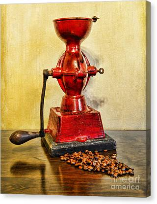 Coffee The Morning Grind Canvas Print by Paul Ward