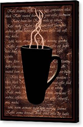 Coffee Time Canvas Print by Barbara St Jean