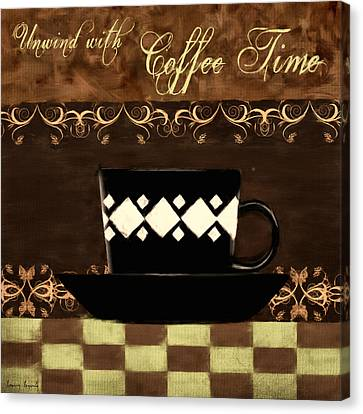 Bistro Canvas Print - Coffee Time by Lourry Legarde