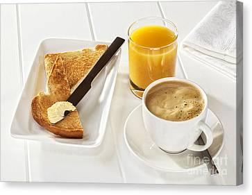 Coffee Toast Orange Juice Canvas Print