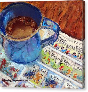 Coffee With Peanuts Canvas Print by Shelley Koopmann
