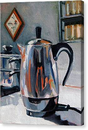 Coffeepot Canvas Print by Pattie Wall
