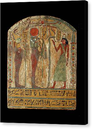 Coffin Of Djeddjehutefankh Canvas Print by Ashmolean Museum/oxford University Images